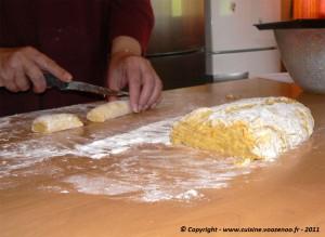La découpe des biscuits