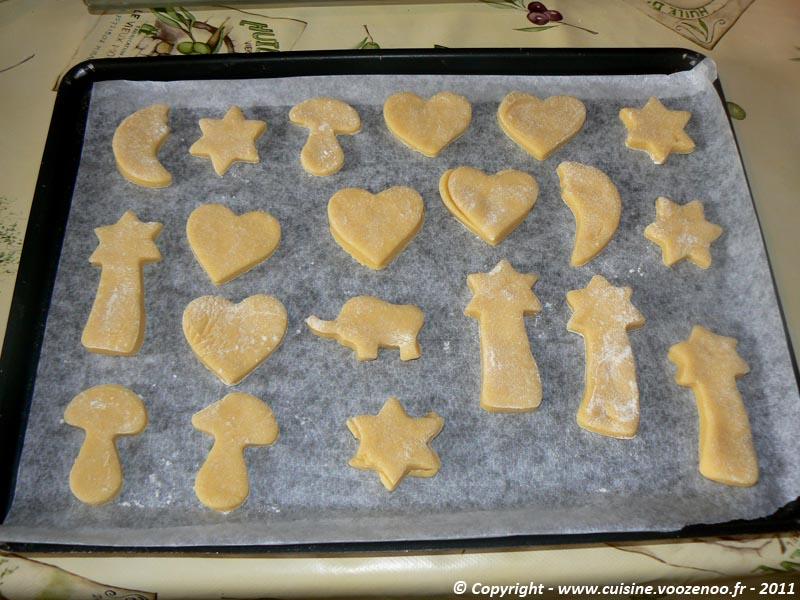 Biscuits sablés à la vanille plaque cru
