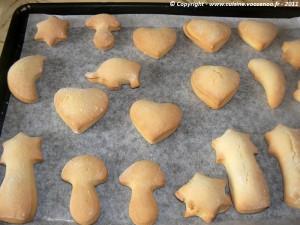 Biscuits sablés à la vanille plaque cuit