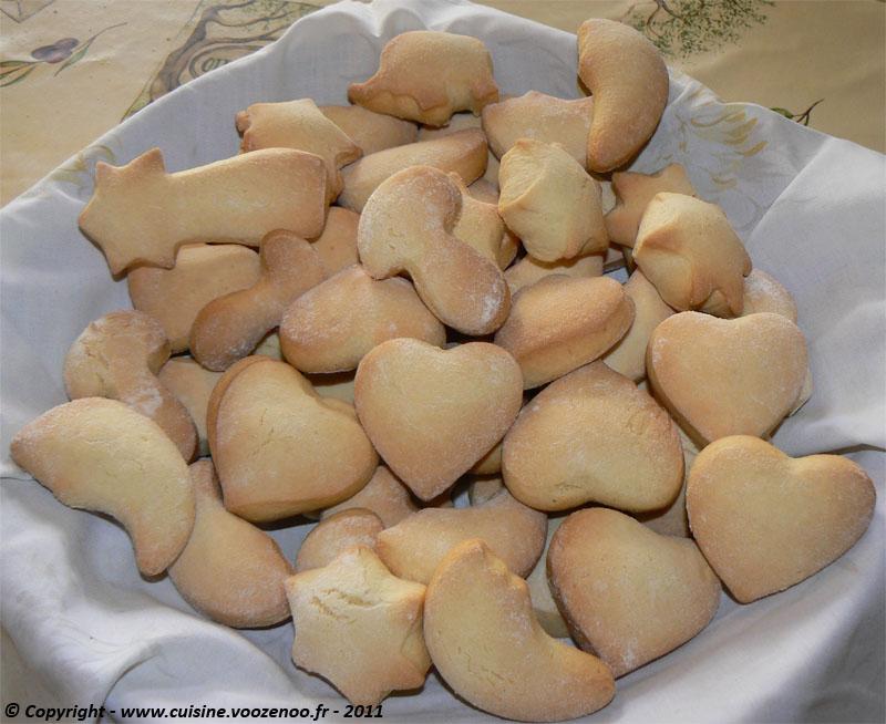Biscuits sablés à la vanille présentation