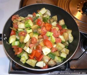 Preparation des légumes