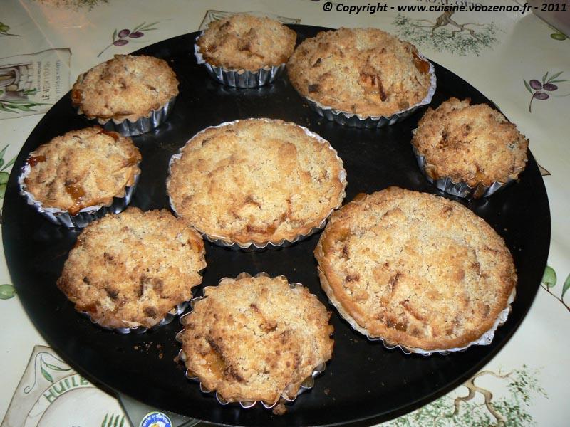 Tartelettes crumbles aux pommes et cannelle 4