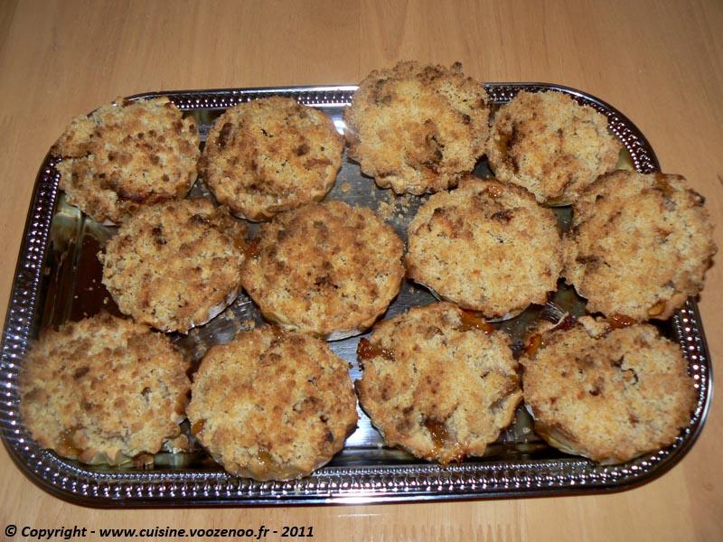 Tartelettes crumbles aux pommes et cannelle 5