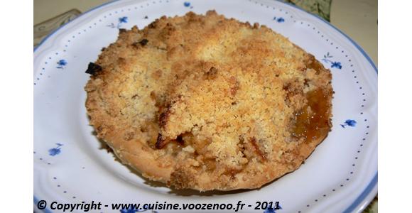 Tartelettes crumbles aux pommes et cannelle