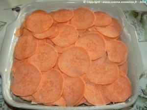 Gratin de patate douce aux noix et parmesan photo2