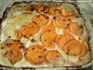 Gratin de patate douce aux noix et parmesan photo5