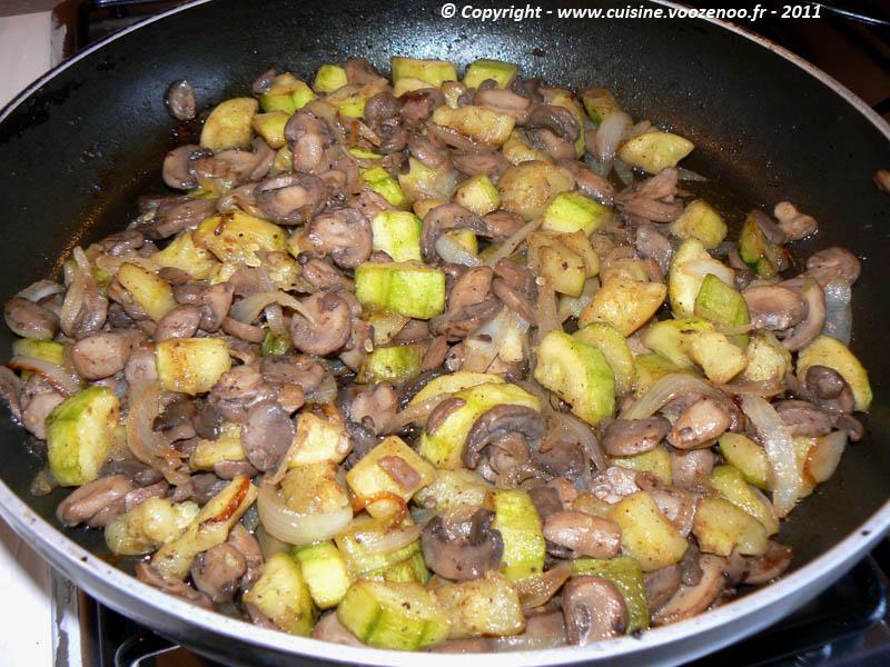 Tarte fromagère aux champignons et courgettes photo1