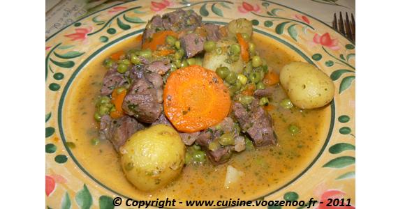 Sauté de porc aux légumes printanier