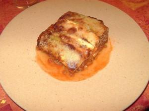 Lasagne de courgettes presentation