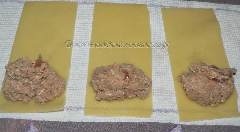 Cannellonis de poulet et aubergines etape4