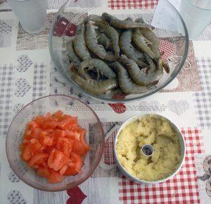 Curry de crevettes Birman etape1