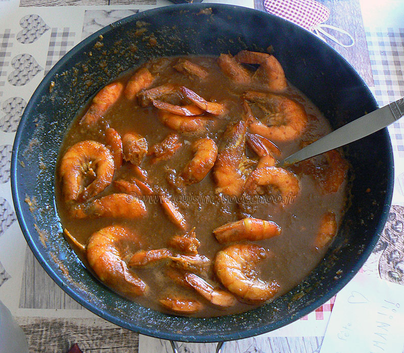 Curry de crevettes Birman fin