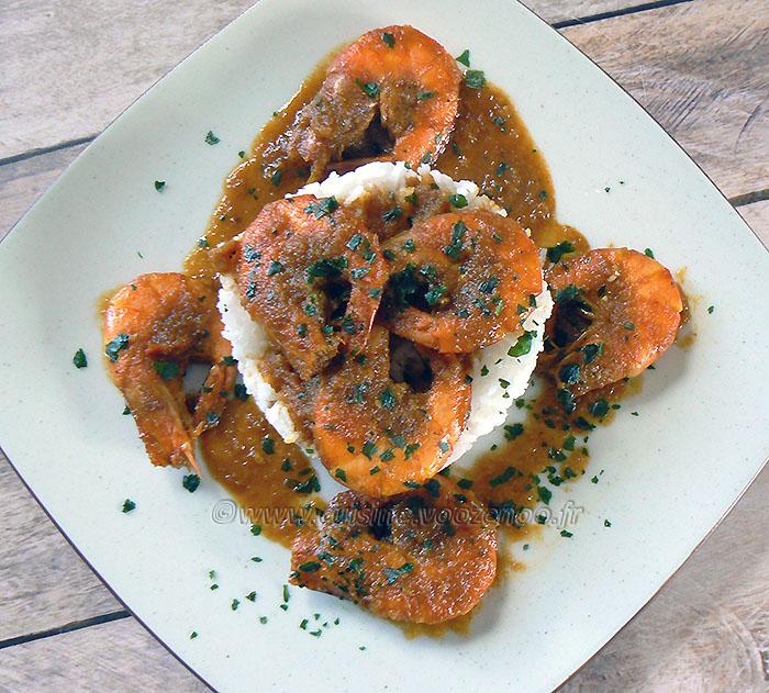 Curry de crevettes Birman fin2