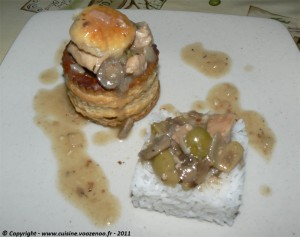 Vol au vent de veau sauce financiere presentation