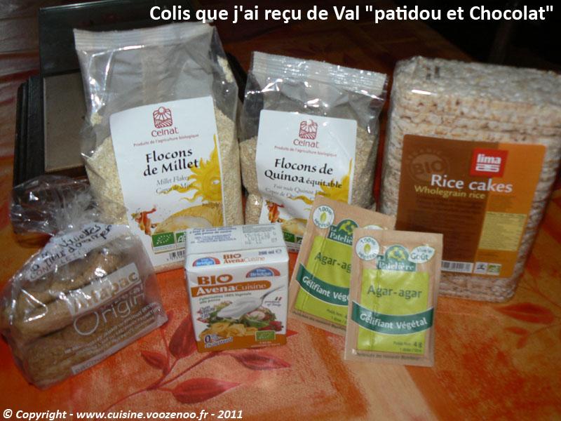Biscuit de savoie colis reçu de Patidou