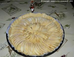 Tarte aux pommes et gelée de coing etape1