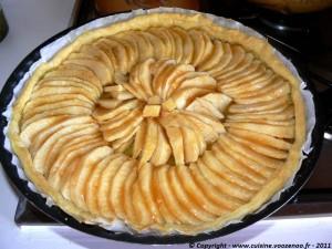 Tarte aux pommes et gelée de coing etape2