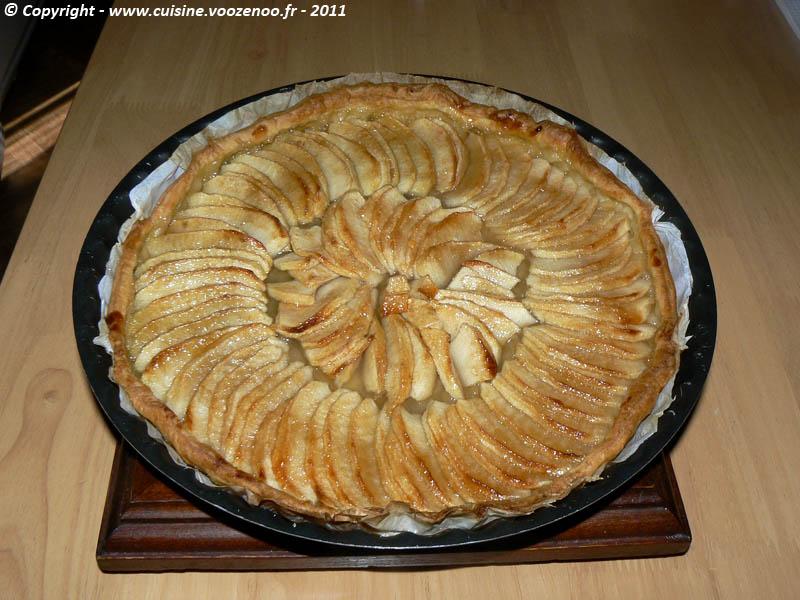 Tarte aux pommes et gelée de coing fin
