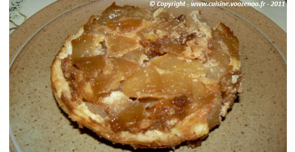 Sablés aux pommes caramélisées fondants