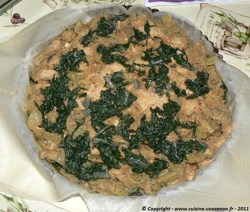 Pastilla aux aiguillettes de canard et aux blettes etape6