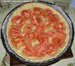 Tarte à la tomate et roquefort etape3
