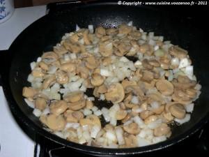 Côtes de porc au fromage fondant et champignons etape2