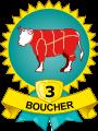 Médaille Boucher 3 viandes