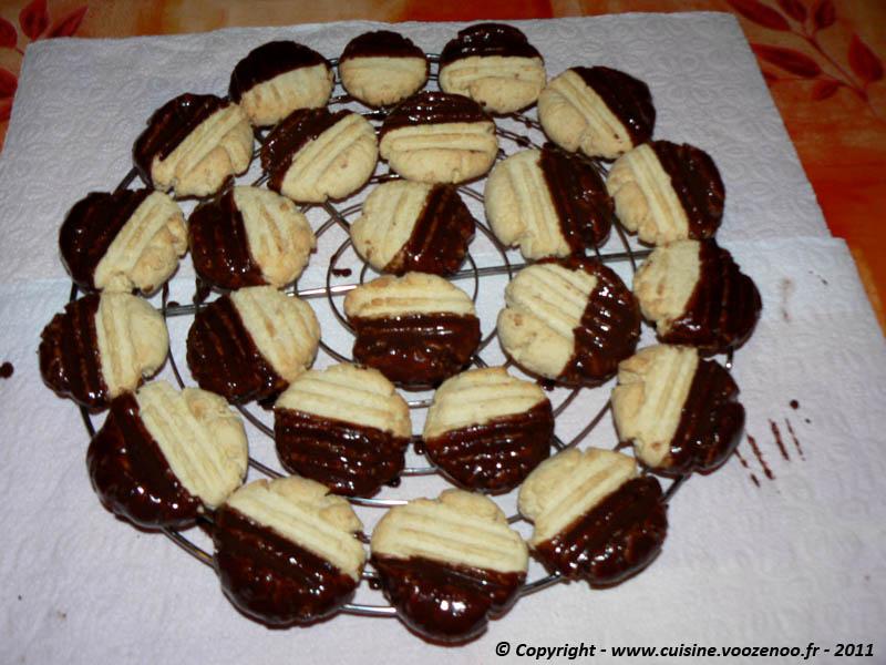 Petits sablés noix de coco chocolat fin