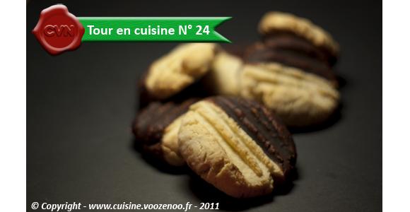 Petits sablés noix de coco chocolat - Tour en cuisine N° 24