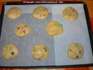 Cookies aux M&M's etape2