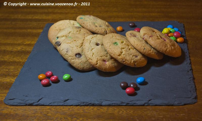 Cookies aux M&M's fin