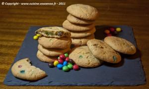 Cookies aux M&M's presentation