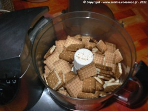 Cheesecake au Nutella etape1