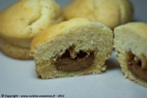 Muffins à la pâte de Spéculoos presentation