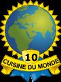 Médaille Cuisine du Monde 10 pays