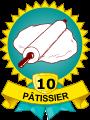Médaille 10 patisseries – Pâtissier