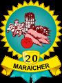 Médailles maraicher 20 légumes