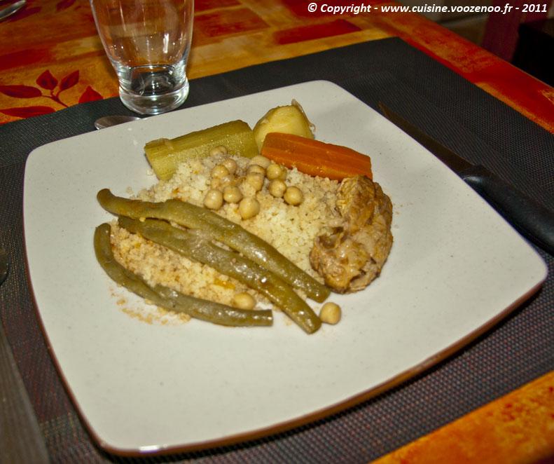 Couscous sauce rouge presentation