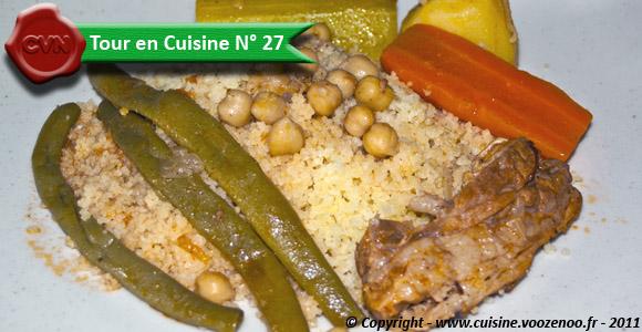 Couscous sauce rouge - Tour en Cuisine N° 27