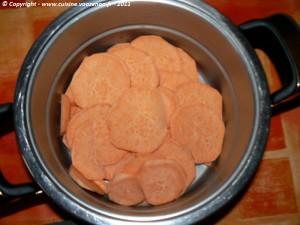 Chayottes sur lit de patates douces en gratin etape2
