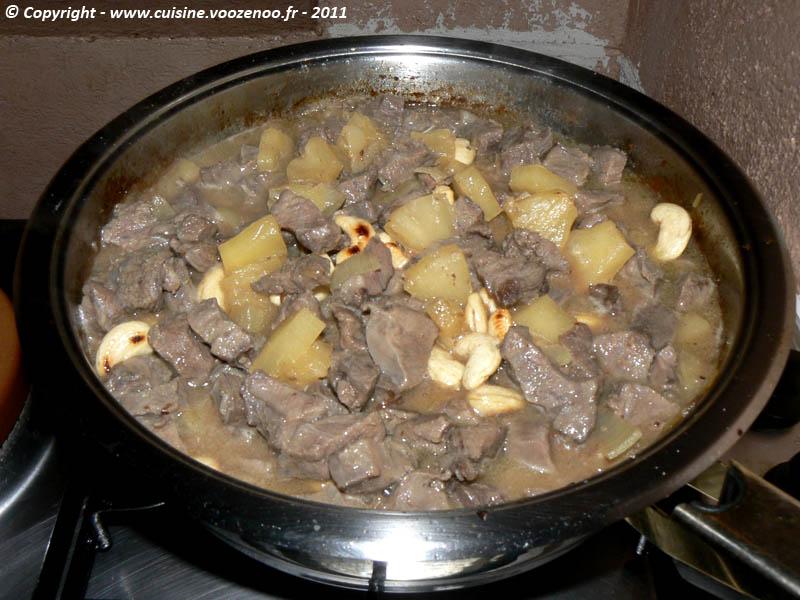Saute de joue de porc a l'ananas et noix de cajou etape2