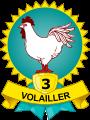 Médaille volailler 3 volailles