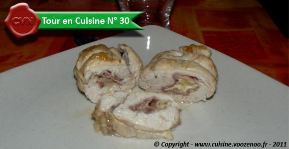 Cordon bleu de poulet au jambon de Bayonne et camembert une