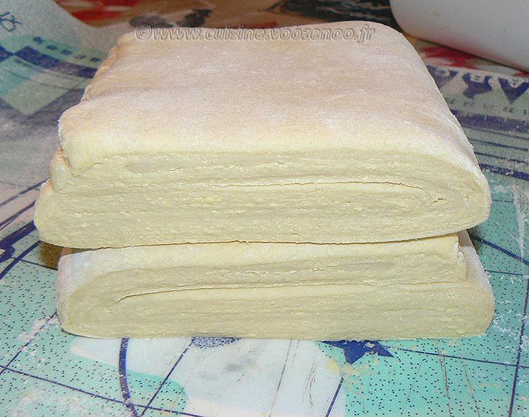 Pâte feuilletée pur beurre presentation
