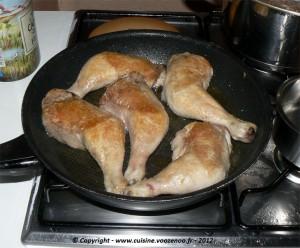 Cuisses de poulet aux champignons etape1
