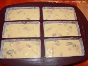 Cake salé aux olives et au jambon etape2
