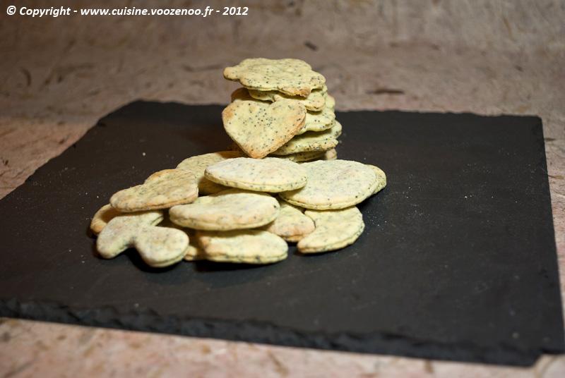 Biscuits au citron et pavot presentation