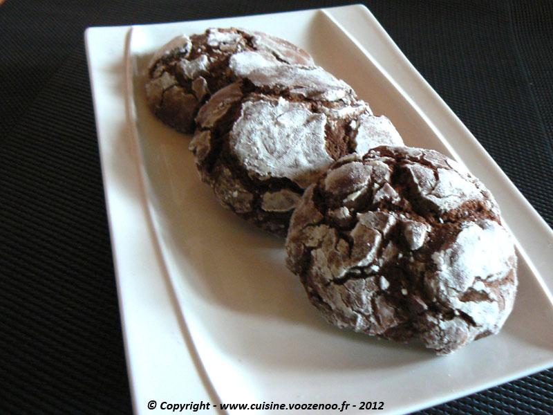 Biscuits craquelés au chocolat fin