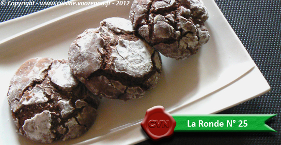 Biscuits craquelés au chocolat - Ronde N° 25