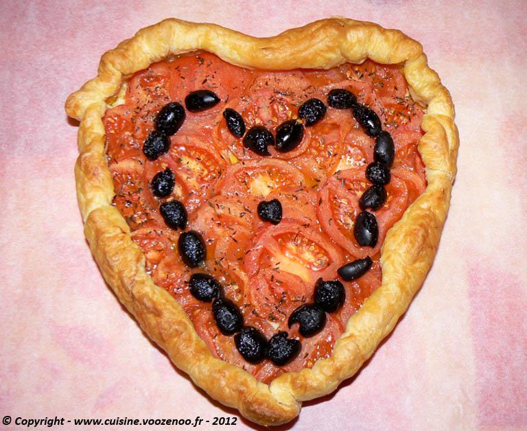 Coeur feuilleté de tomates presentation